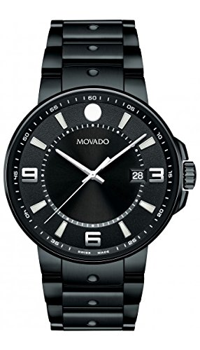 Movado SE Pilot Black With Arabic Index Mens Watch 0606809
