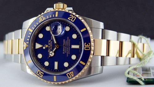 Rolex Submariner dos tonos azul [Submariner Date 116613LB]