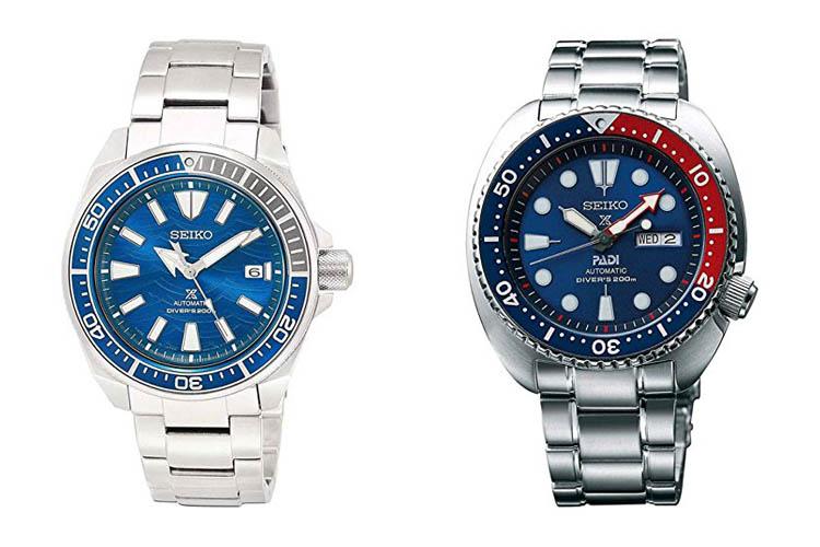 Seiko Turtle vs Samurai- Comparación de relojes de buceo